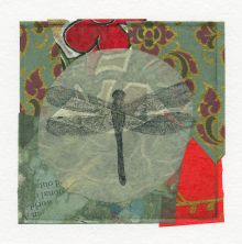 Dragonfly, green & red