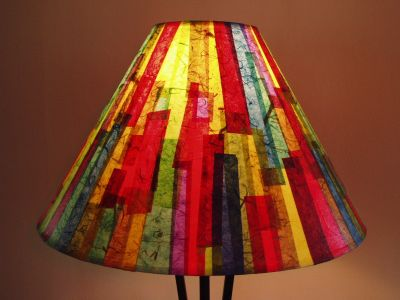 Bright Colorful Striped Shade  Janet Woodcock 2005